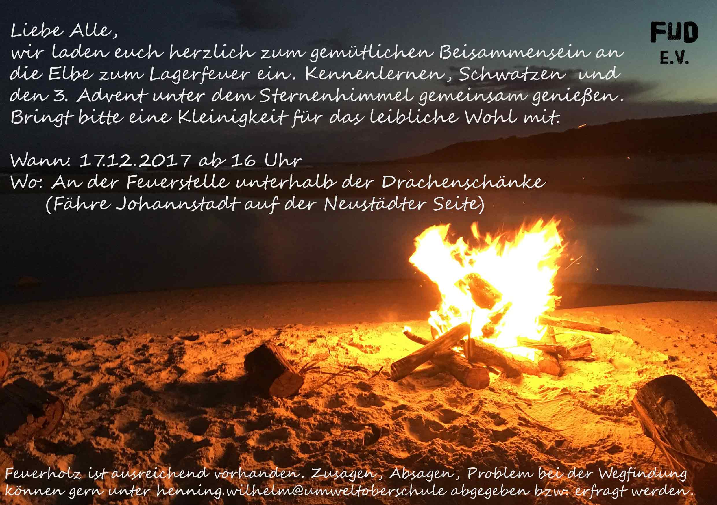 Lagerfeuer 3. Advent